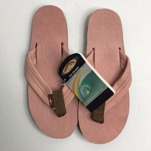 Rainbow sandals womens pink small premium leather
